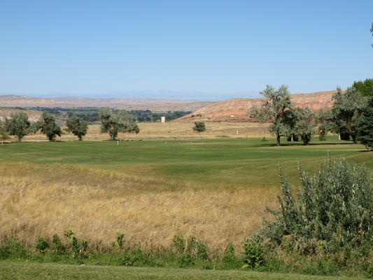 Hole #4 at Legion Town and Country Golf Course in Thermopolis