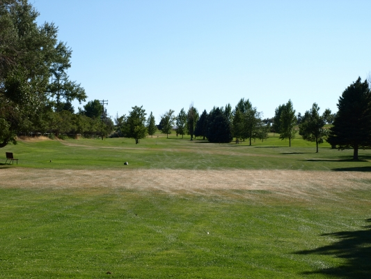 Hole #9 at Thermopolis Golf Course